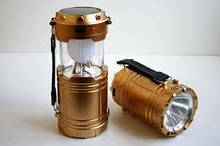 Походный фонарь-лампа на солнечной батарее G-87 Rechargeable Camping Lantern)
