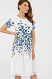 GLEM Синие цветы платье Мияна-КД к/р, фото 3