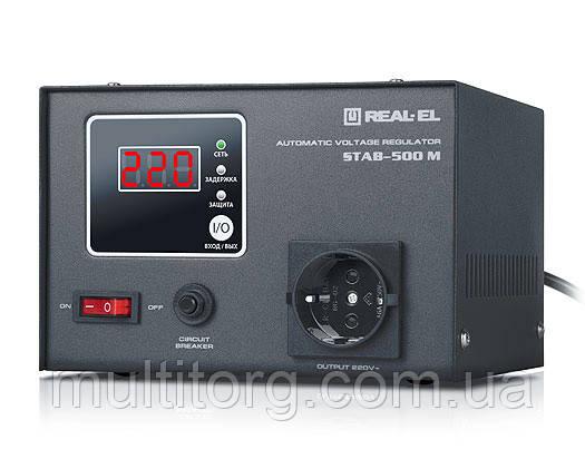 Стабілізатор напруги REAL-EL STAB-500 M