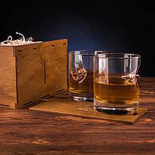 Набор из 2 стаканов для виски с пулей 7.62мм