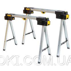 Козлы складные (пара) выдерживают вес до 900 кг, высота 1117 мм, DeWALT DWST1-75676