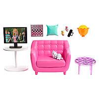 Мебель для кукол Барби Гостинная с аксессуарами FXG36, фото 4