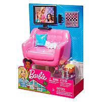 Мебель для кукол Барби Гостинная с аксессуарами FXG36, фото 7
