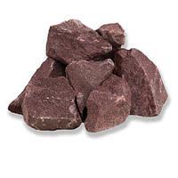 Камень для сауны Малиновый кварцит, колотый