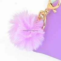 Пенал-косметичка YES Furry Сиреневый (532720), фото 3