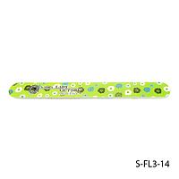 Пилка Lady Victory S-FL3-14 с наждачным напылением, прямая, зеленая с ромашками (120/120)