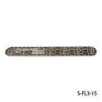 """Пилка Lady Victory S-FL3-15 с наждачным напылением, прямая, с принтом """"кожи рептилии"""" (240/240)"""