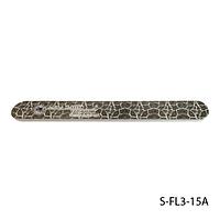"""Пилка Lady Victory S-FL3-15A с наждачным напылением, прямая, с принтом """"кожи рептилии"""" (180/220)"""