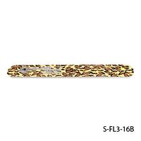 Пилка Lady Victory S-FL3-16B с наждачным напылением, прямая, с принтом леопарда (100/180)