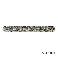 """Пилка Lady Victory S-FL3-09B с наждачным напылением, прямая, с принтом """"серый леопард"""" (100/220)"""