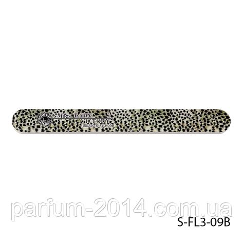 """Пилка Lady Victory S-FL3-09B с наждачным напылением, прямая, с принтом """"серый леопард"""" (100/220), фото 2"""
