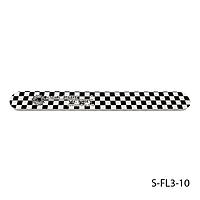 """Пилка Lady Victory S-FL3-10 с наждачным напылением, прямая, с принтом """"шахматная доска"""" (220/220)"""
