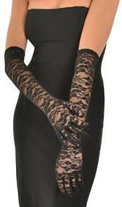 Длинные кружевные перчатки довгі мереживні рукавички