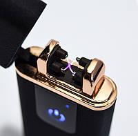 Электродуговая плазменная импульсная зажигалка Classic Fashionable - Чёрная Матовая (5402) (750), Оригинальные