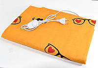 Электрогрелка Чудесник 40х50 см, 40 W (чехол - Оранж с сердечками) грелка электрическая с доставкой,