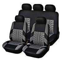Автомобільні чохли на сидіння (повний набір: 2 передніх і 1 задній) авточохли (3 шт./уп.)