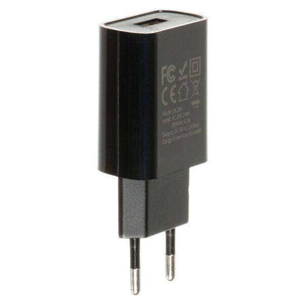 Мережевий зарядний пристрій HOCO DC20A 2.1 A / 1 порт USB (Black)