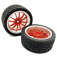 Колесо с шестиугольным креплением 65 мм, красное