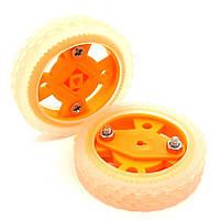 Колесо пластиковое для мотора N20 47мм, оранжевое