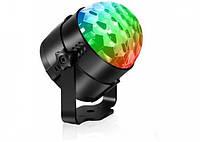 Светодиодный диско-шар Led Party Light 3D Шоу для создания световых эффектов лампа для дискотек с пультом, фото 1