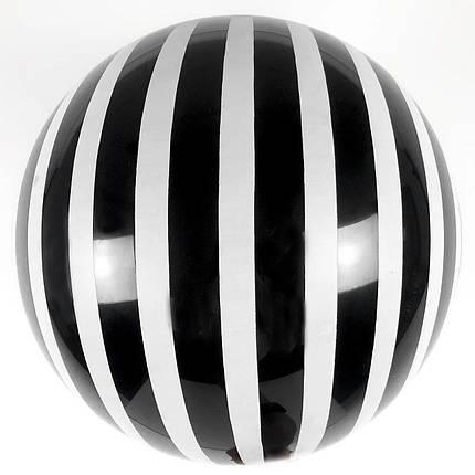 """Шар 18""""/45см Бабл Bubble пастель черный с белыми полосами (Китай), фото 2"""