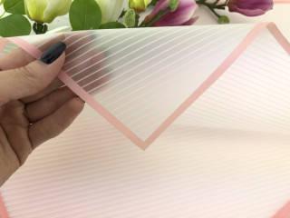Калька для упаковки цветов Diagonal розовая 60*60 см, 20 листов, фото 2