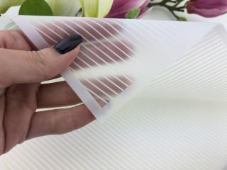 Калька для упаковки цветов Diagonal белая 60*60 см, 20 листов