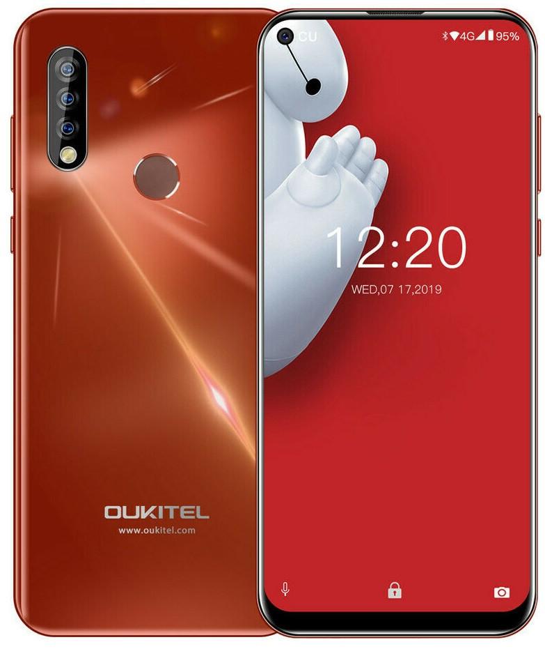 Смартфон оукител красный с тройной камерой и большим экраном на 2 сим карты  Oukitel C17 Pro Red