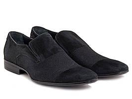 Элегантные туфли для мужчин в черном цвете