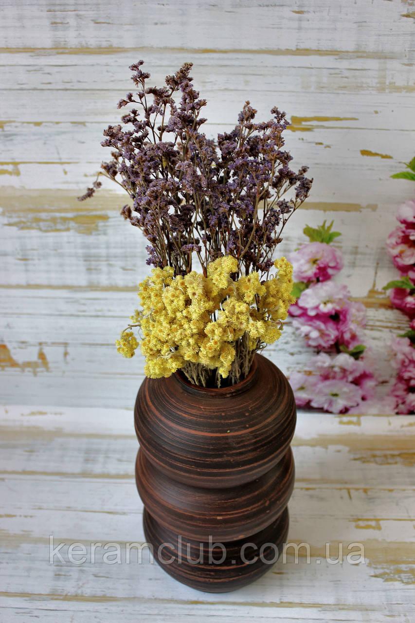 Гончарная ваза ручной работы Крокс h 25 см