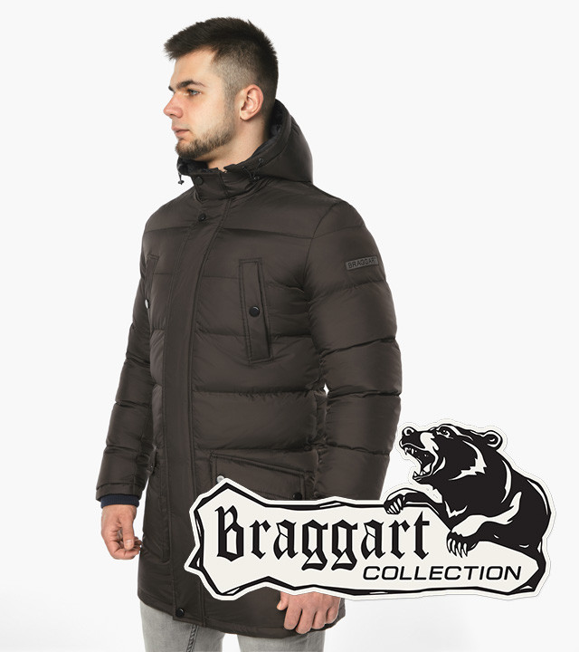 Braggart Dress Code 32045 | Мужская зимняя куртка цвета кофе
