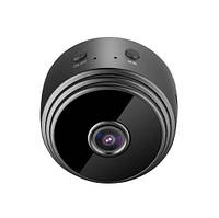 Беспроводная мини IP-камера A9 WiFi 1080P Full HD ночного видения (Чёрный)