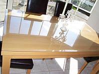 Силиконовое мягкое стекло Прозрачная защитная скатерть для стола и мебели Soft Glass (2.0х1.0м) толщина 2 мм