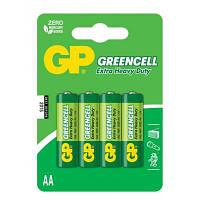 Батарейка GP AA R6 солевая * 4 (15G-U4)