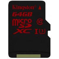 Карта памяти Kingston 64GB microSD class 10 UHS  U3 (microSDHC no adapter)