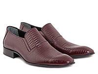 Бордовые туфли в лаковой коже
