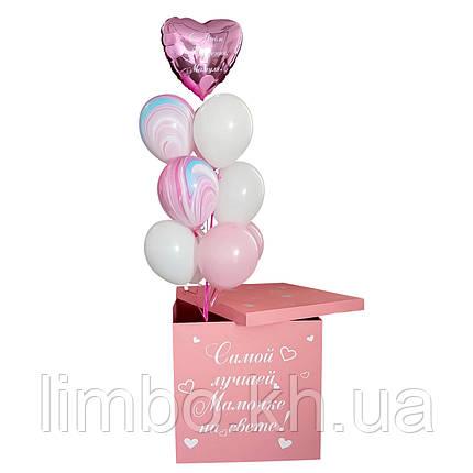 Коробка з гелієвими кулями найкращої матусі, фото 2