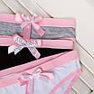 Женские трусики, ТОЛЬКО ОПТ ОТ 10 ШТ, 95% хлопок, 5% эластан, размер XL, XXL, розовый, фото 3