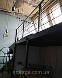 Перила из металла в стиле Лофт, Хай-Тек, фото 7