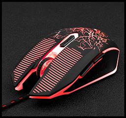 Провідна ігрова миша Jishun X790 тріщина 6D з підсвічуванням