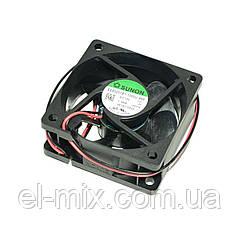 Вентилятор  12VDC, 60х60х25мм, (скольжения)  Sunon EB60251S1-1000U-998