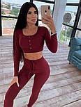 Жіночий обтягуючий костюм трикотаж рубчик: топ і лосини (в кольорах), фото 6