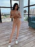 Женский облегающий костюм трикотаж рубчик: топ и лосины (в расцветках), фото 3