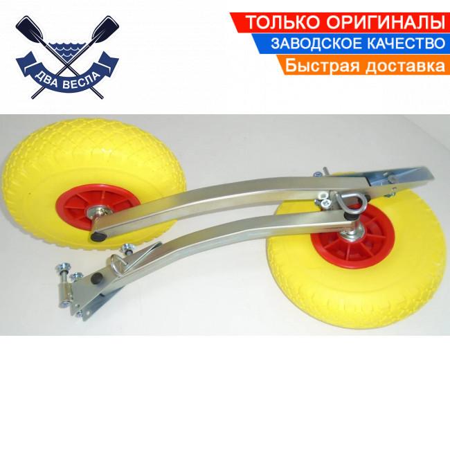 Откидные транцевые колеса КТ-400 Пено для лодки с НДНД с интерцептором до 150 кг антипрокол фиксация штифтом