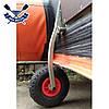 Откидные транцевые колеса КТ-400 Пено для лодки с НДНД с интерцептором до 150 кг антипрокол фиксация штифтом, фото 3