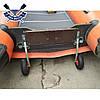 Откидные транцевые колеса КТ-400 Пено для лодки с НДНД с интерцептором до 150 кг антипрокол фиксация штифтом, фото 6