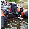 Откидные транцевые колеса КТ-400 Пено для лодки с НДНД с интерцептором до 150 кг антипрокол фиксация штифтом, фото 7