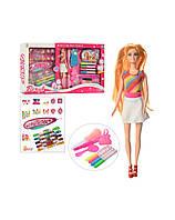 Набор для детского творчества L5737A. Бисер, нитки, маркер для волос, кукла 30см