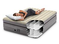 Надувная двухспальная кровать Intex 64164 со встроенным насосом (152*203*51 см)