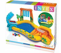 Детский надувной бассейн с горкой Intex 57444 - надувной игровой центр Динозавр
